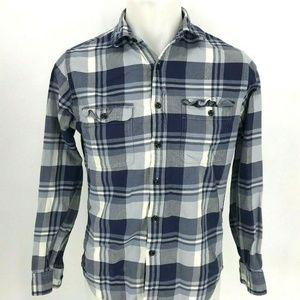 J Crew Flannel Shirt Men Sz S Small M2